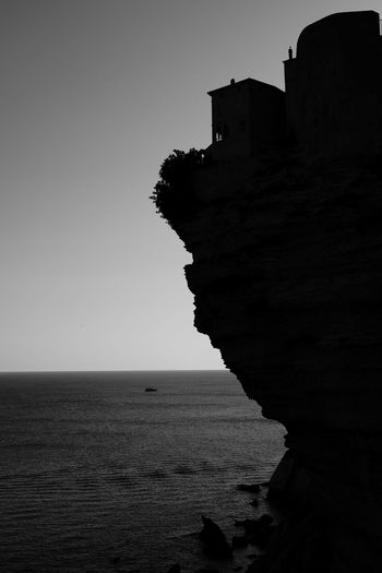 Shadows of Bonifacio Black & White Cityscape Fujifilm X-E2 Architecture Beauty In Nature Black And White Black And White Photography Black&white Blackandwhite Blackandwhite Photography Clear Sky Cliff Day Fujifilm_xseries Horizon Over Water Nature No People Outdoors Rock - Object Rocks Scenics Sea Sky Tranquility Water