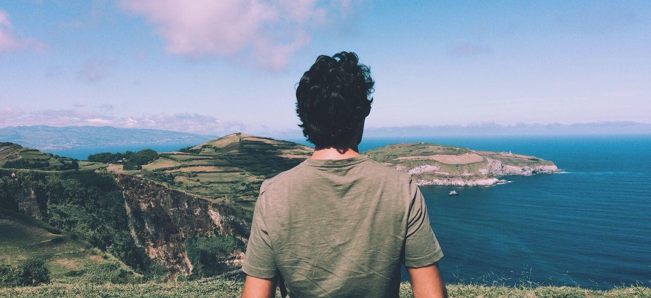 Beautiful stock photos of vacation,  30-34 Years,  Black Hair,  Cliff,  Coastline