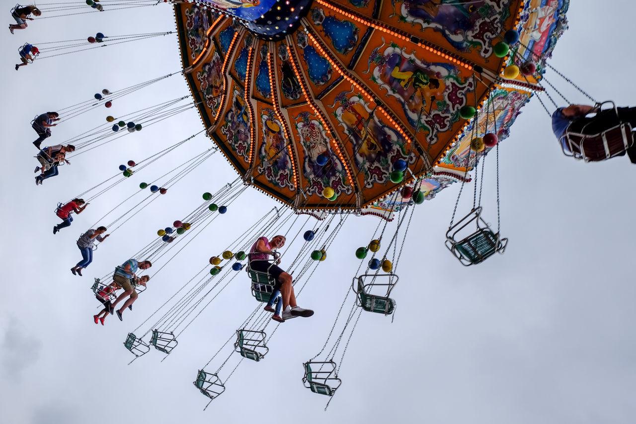 Amusement Park Funfair People