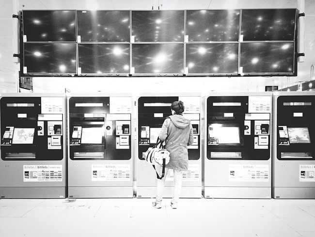 a ticket to... EyeEm Best Shots EyeEm Best Shots - Black + White The EyeEm Facebook Cover Challenge IPhoneography Mobilephotography Blackandwhite Traveling Streetphotography Bw Streetphotography Urban Lifestyle