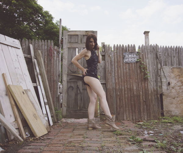 EyeEm Selects One Woman Only Only Women Adults Only People Full Length Young Women Leisure Activity Adult One Person Lifestyles Individuality One Young Woman Only Young Adult Fun Day Outdoors Portrait Ruin Junkyard Junk Beautiful Legs Beauty Human Body Part