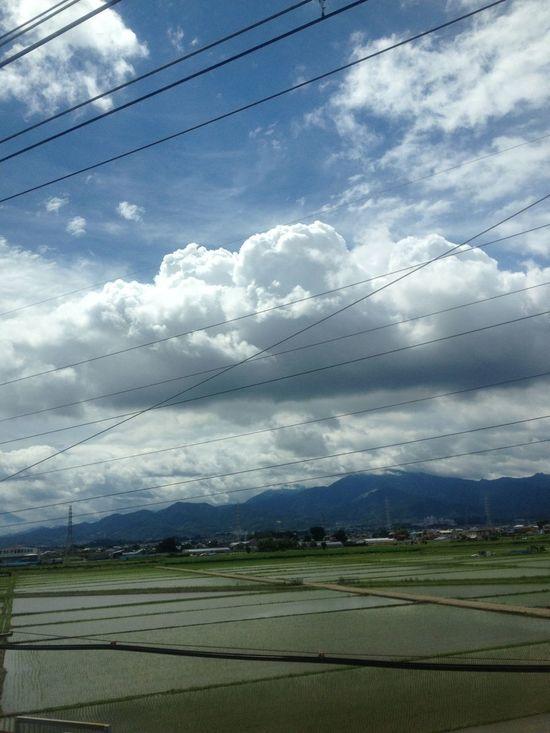 Cloudporn Skyporn From Train Window Japan Scenery
