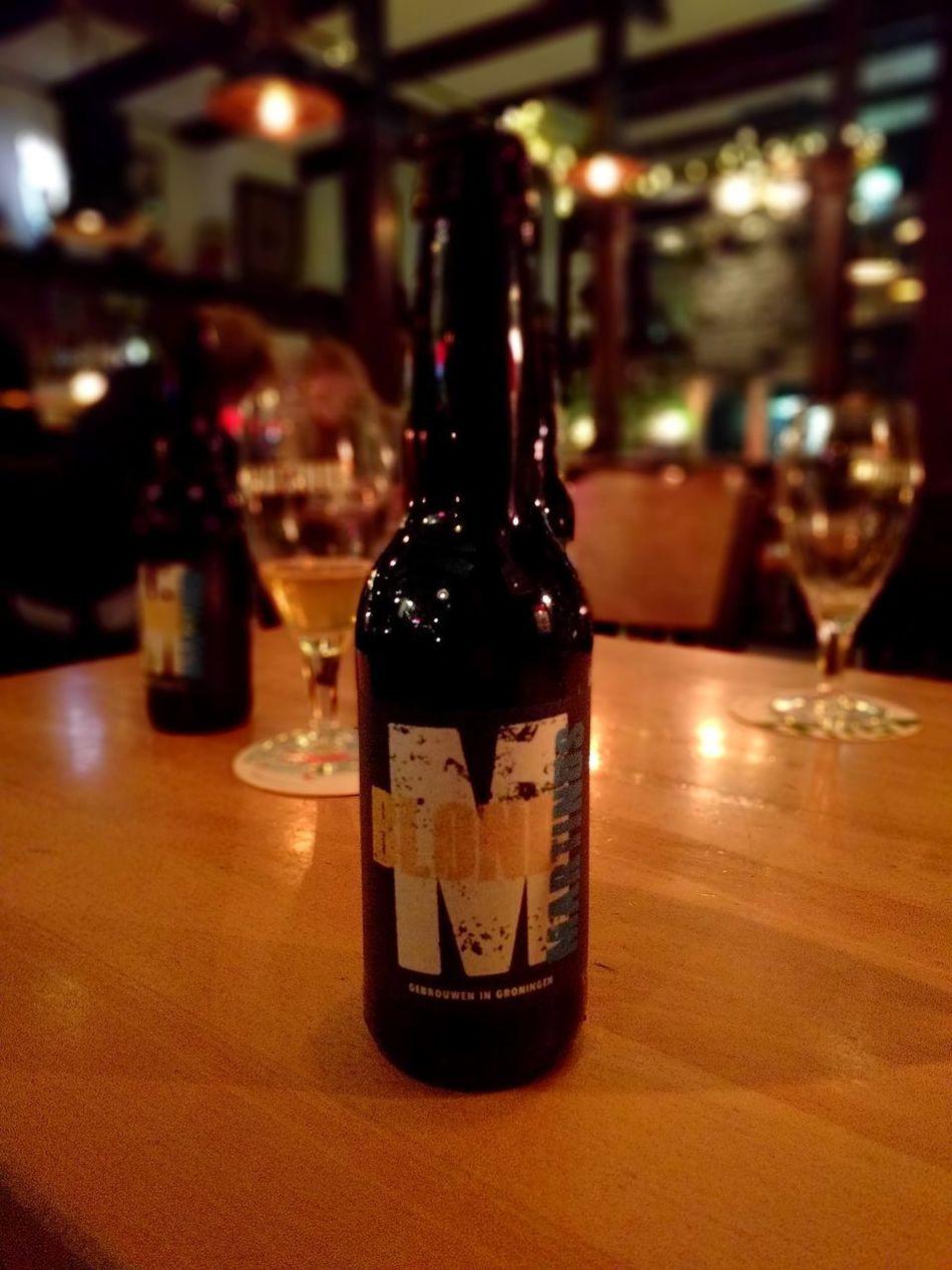 Alcohol Bottle Drink Wineglass Food And Drink Focus On Foreground Drinking Glass No People Indoors  Beer Beer Bottle Groningen Groningen Holland Martinus