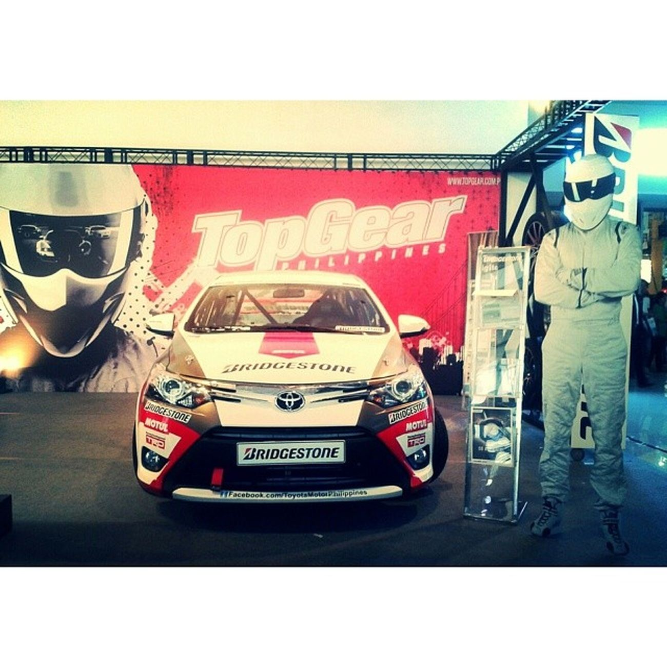 The BBC Top Gear Philippines booth at the Manila International Auto Show. And, hey, there's The Stig! BBCTopGear TopGearPhilippines MIAS2014 Cars ManilaInternationalAutoShow automotive wheels autoshow worldtradecenter TheStig