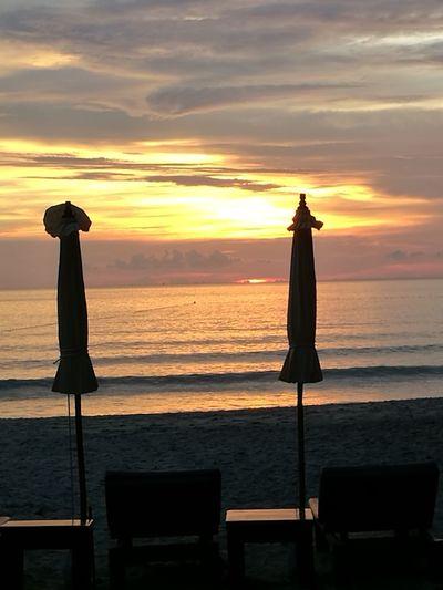 Sunset Sea Beach Horizon Over Water Tranquility Sky Sun