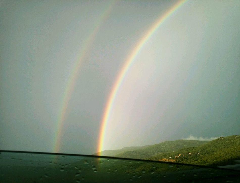 Rainbow Nature Landscape Duble