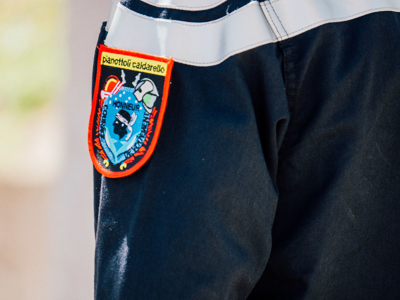 Close-up Corse Corsica Day Firefighter Logo One Person People Shield