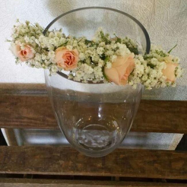 Coronita para comunión de este fin de semana. Vigo Flores Aleafloristerias Corona Comunion Fiori