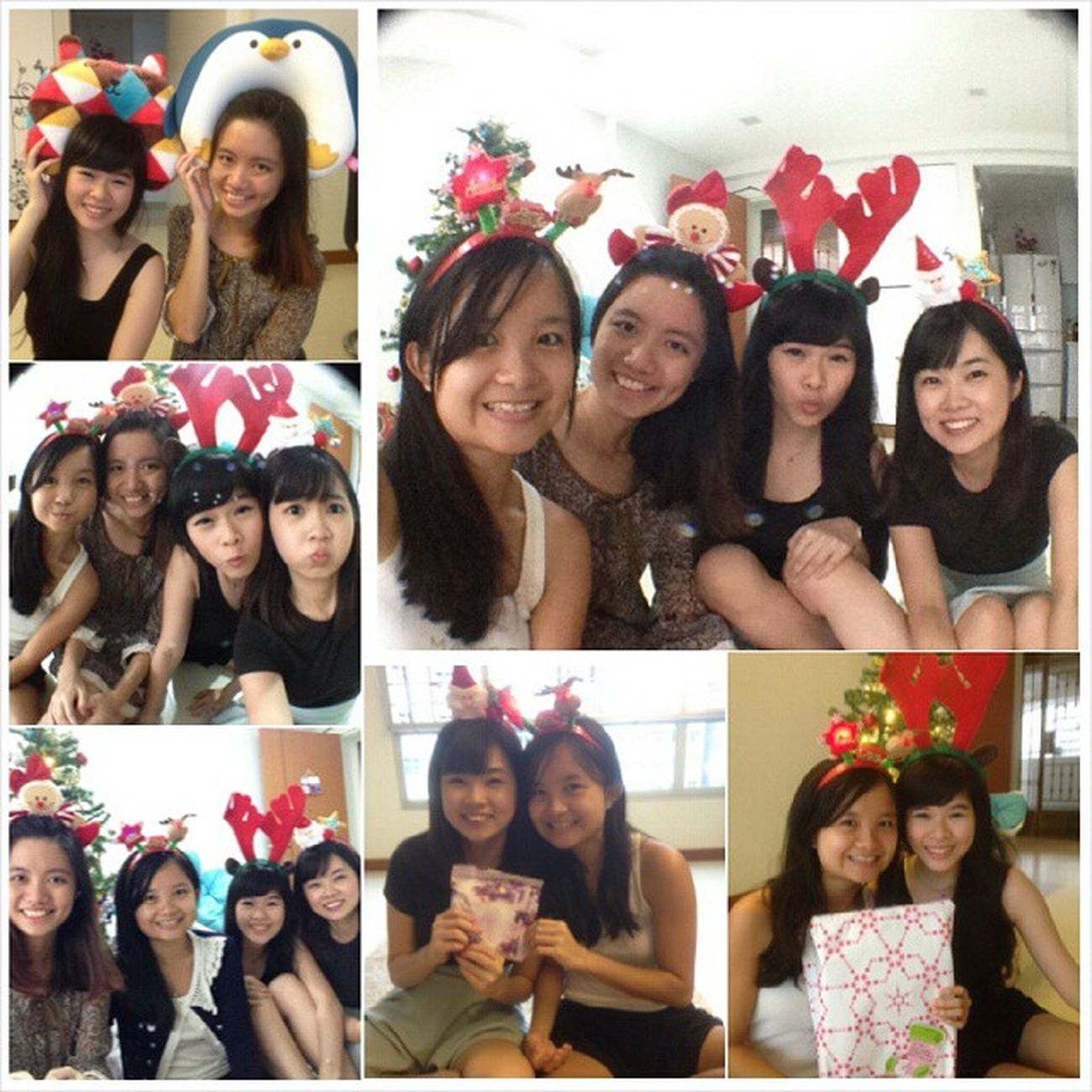 Belated Christmas exchange at @sinyeemidori 's nest. Hehehe. Had a short and really awesome time eating alot of snacks and playing Kinect (Cardio lor) lol. Epic moments captured And zi char to end the day hehee. Love my babes ♥♥♥ Eatandplay Yay Babes Hehehe lovethemmanymany giftexchange