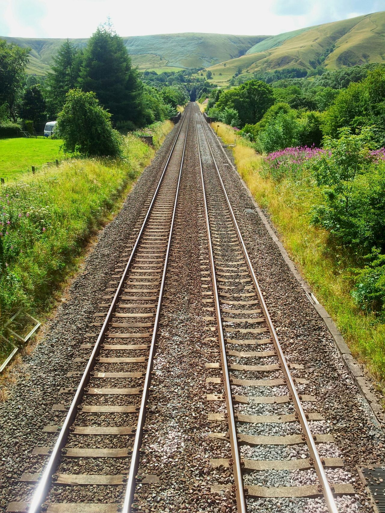 Into the mountain. Railway Landscape Taking Photos Nature