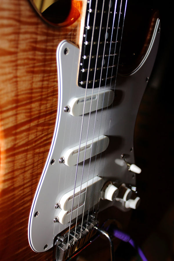 The art of strat Arts Culture And Entertainment Close-up Electric Guitar Fretboard Guitar Guitar Bridge Music Musical Instrument Musical Instrument String No People Plugged In Strat Stratocaster String Instrument Wood