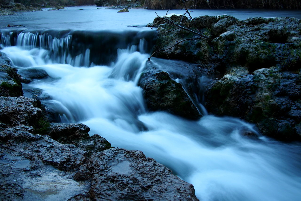 Beauty In Nature Blue Day EyeEm EyeEm Best Shots EyeEm Nature Lover Fine Art Photography Lake Landscape Long Exposure Motion Nature Nature Nature On Your Doorstep Night No People River Riverscape Rock - Object Scenics Trans En Provence Water Waterdrops Waterfall Winter