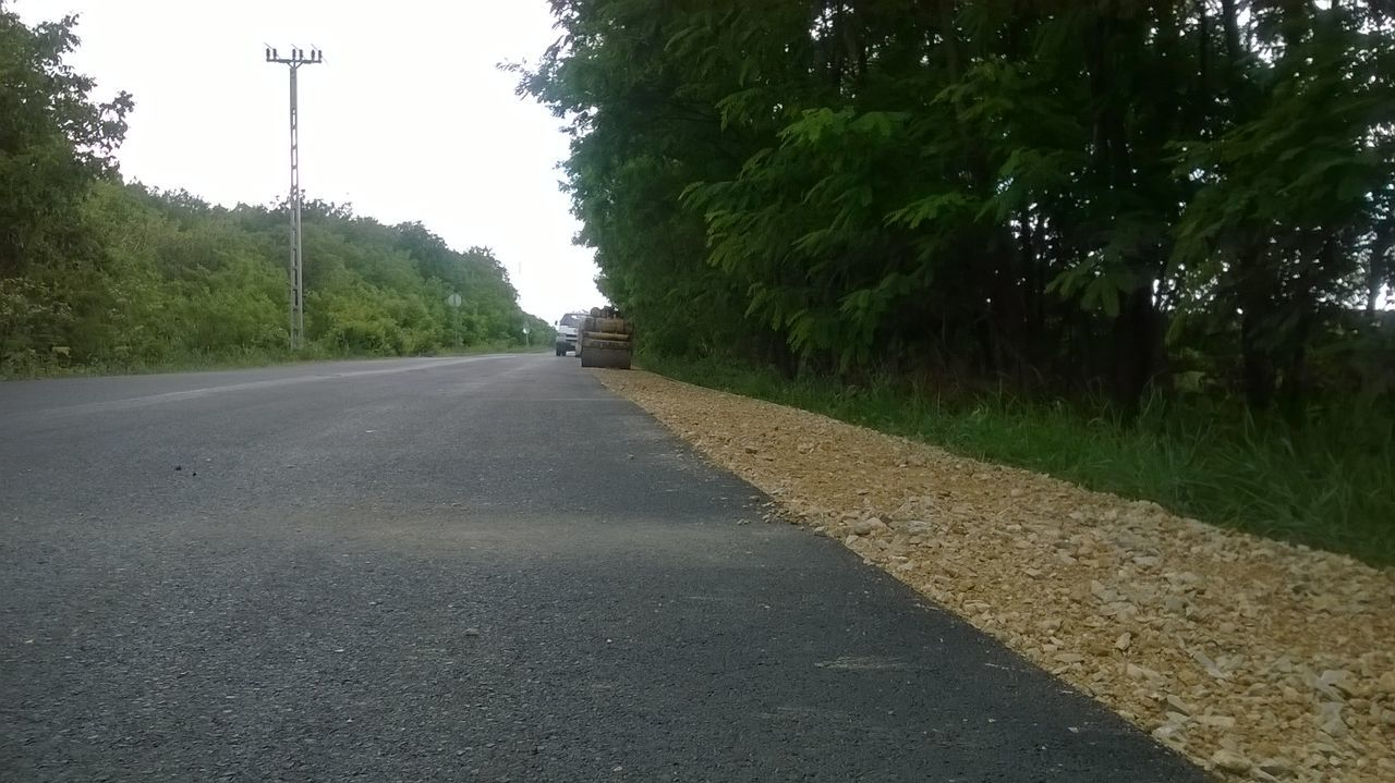 Asphalt Car Day Nature Road Road Roller Summer Working