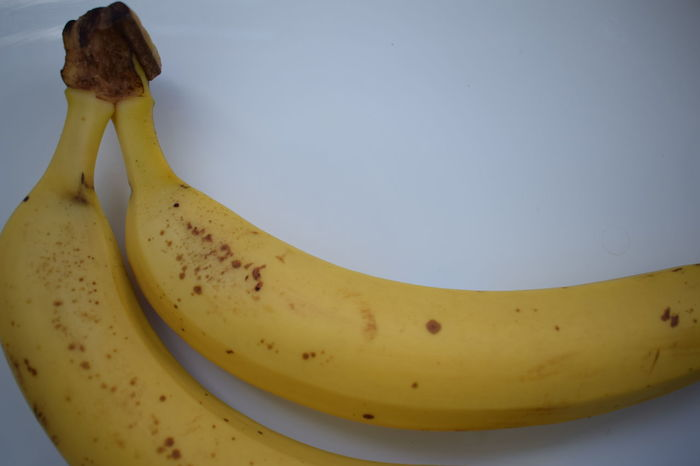 Two banana in corner Bananas Close-up Corner Food Fruit Healthy Food Nature No People Two White Yellow