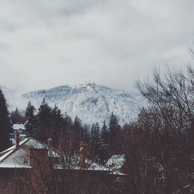 Winter Mountains Foggy Roomview Seeing The Sights Sinaia Romania Fairytale  IPhoneography