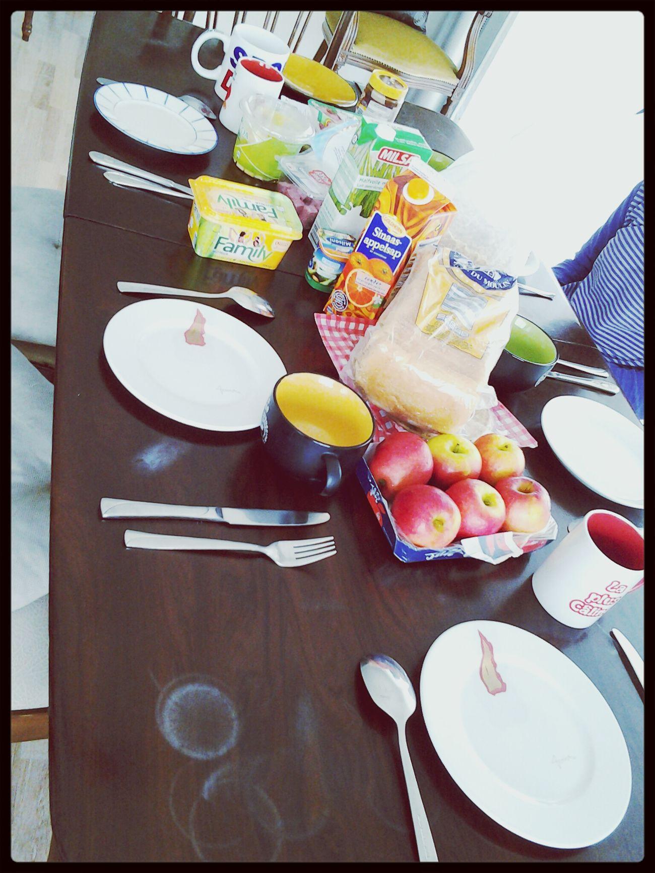 Breakfast in Family :) Enjoying A Meal Food Porn Breakfast