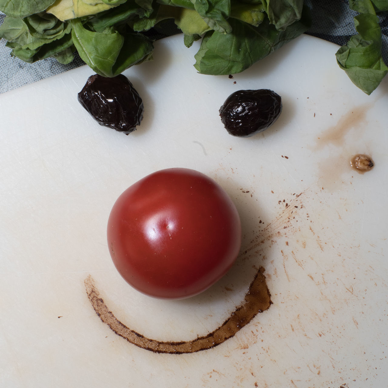 A whig from radish leaves - not the worst whig in these days… Breakfast Day Face Flash Photography Food Food And Drink Freshness Fruit Healthy Eating High Angle View Indoors  Keep Smiling Kitchen Kitchen Art Morning No People Olives Optimistic Radish Studio Shot Table Tomato Vinegar