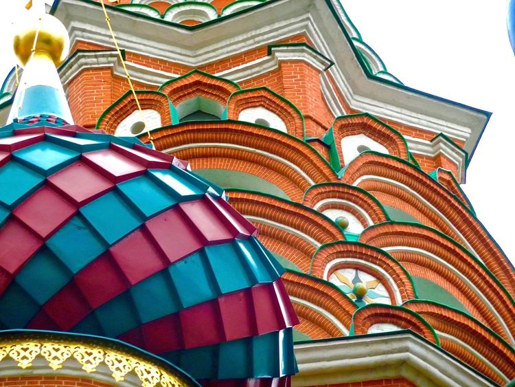 Moscow St Basil's Cathedral Church Cathedral Colours Architecture Historical Building