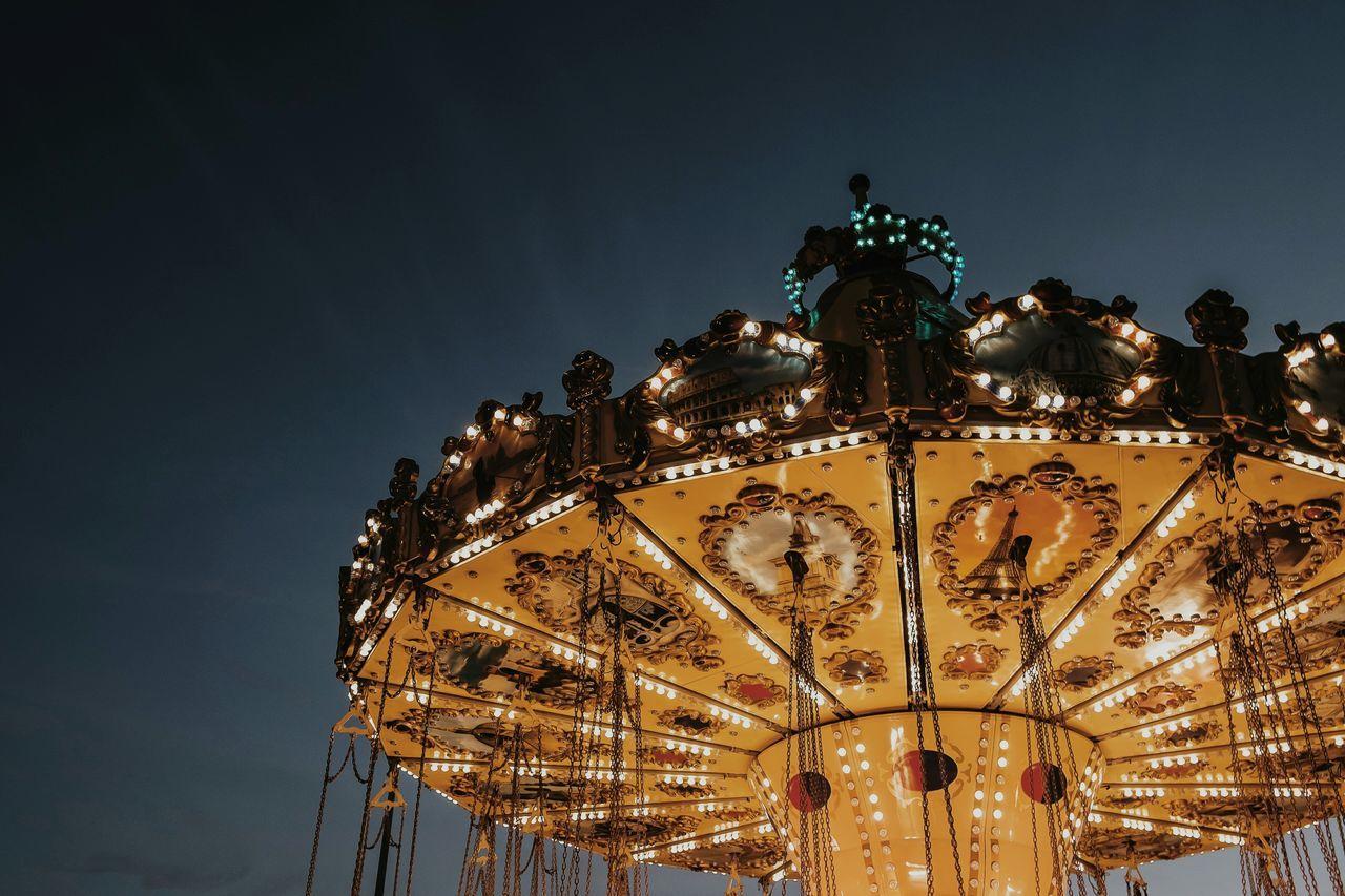 Beautiful stock photos of night, Amusement Park, Amusement Park Ride, Arts Culture And Entertainment, Carousel
