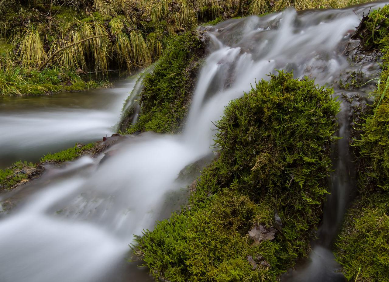 Guttenburg Guttenburger Bach Langzeitaufnahme Moos Steine Wasserfall
