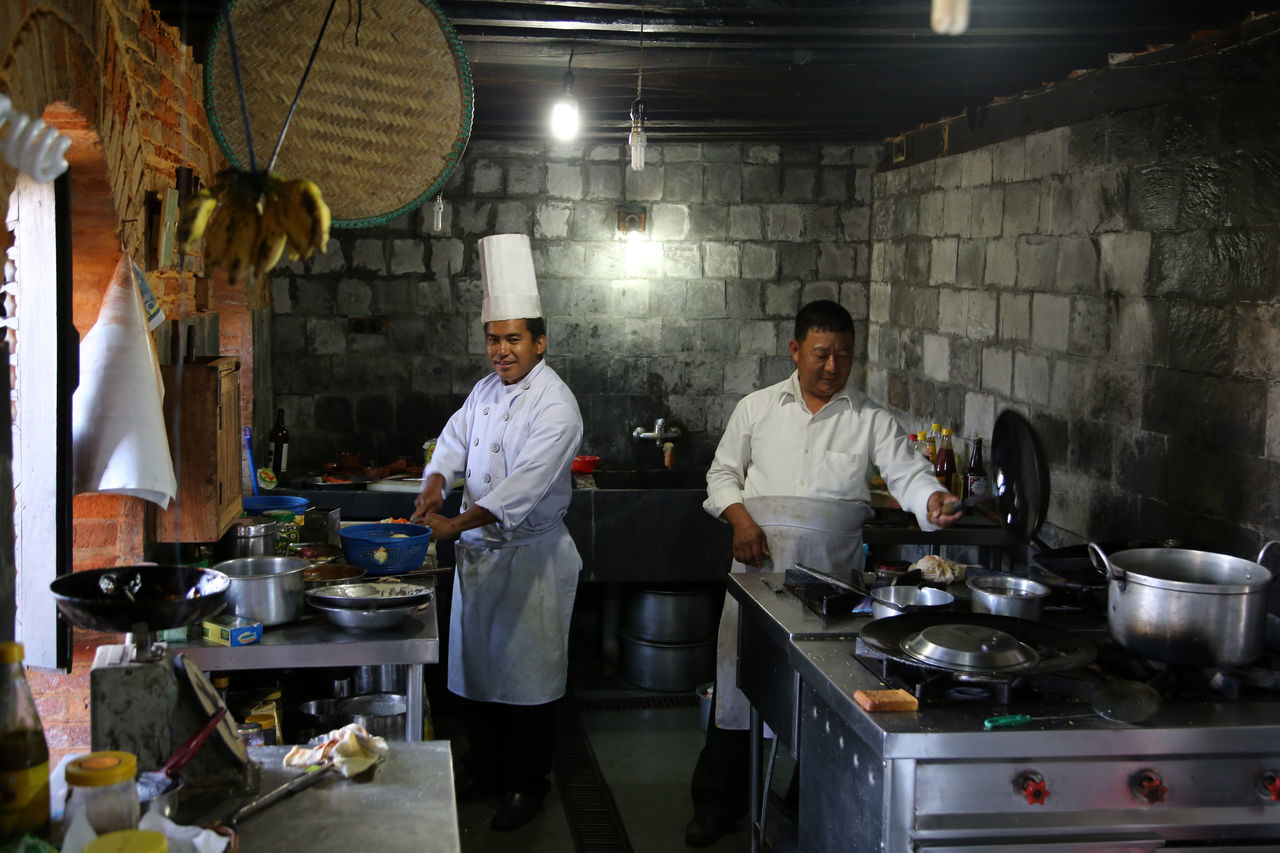 Bandit Cook Attire Domestic Kitchen Dressed To Cook Food And Drink Industry Kitchen Kitchen In Hotel In Bandipur Leisure Activity Nepaltrail Preparation  Restaurant Two Coofee