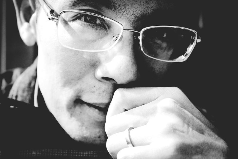 Blackandwhite Eyeglasses  One Person Close-up Human Body Part Real People Men Headshot Outdoor Photography