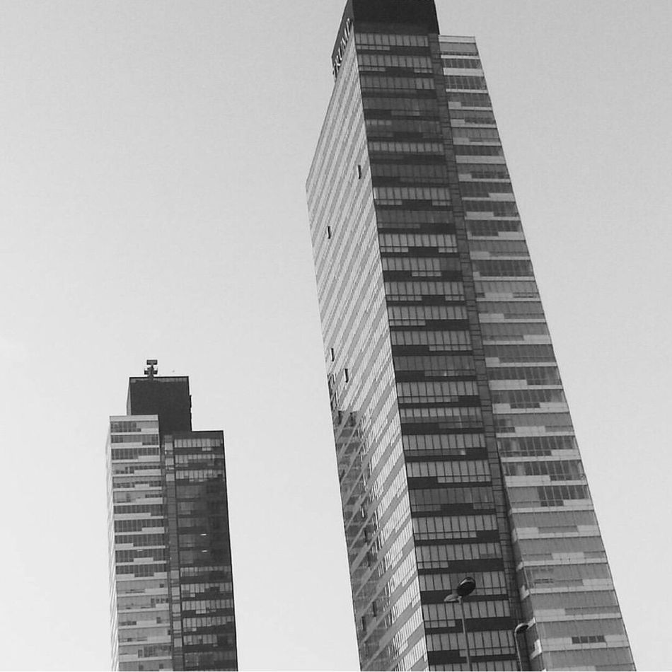 Building Exterior Architecture Built Structure City Skyscraper Low Angle View Outdoors Clear Sky No People Day Modern Sky Office Block Cityscape Turkey Black Istanbul Cityscape Türkiye Siyahbeyaz First Eyeem Photo Blackandwhite Sehir Desaturated City