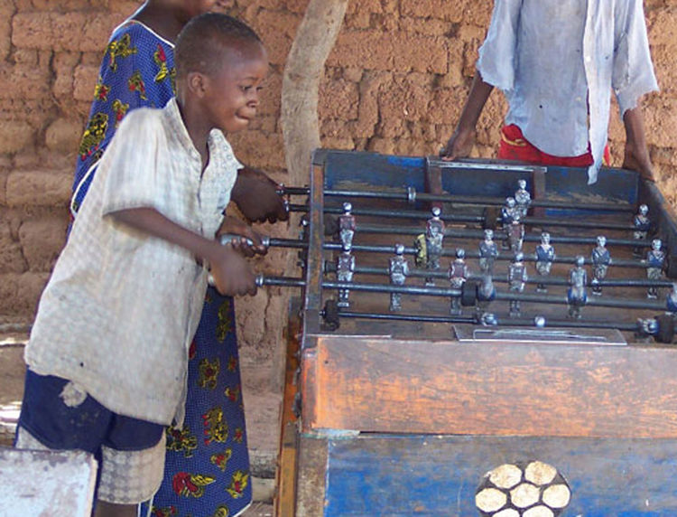 Boy doing its utmost! Africa Effort Endeavour Mini Football Outdoors Playing Playing Games Young Adult