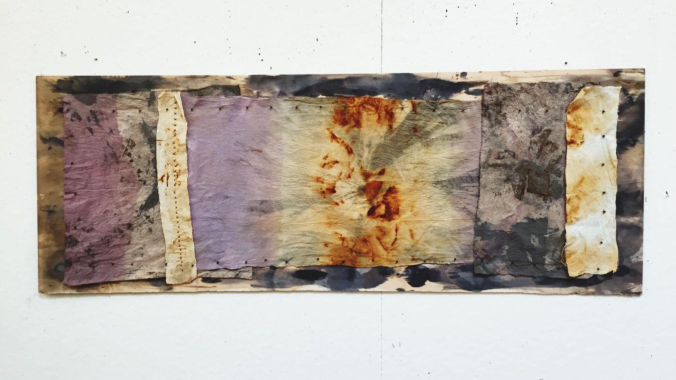 Critique days. Artist life. Loving life. Muslin rust shibori. Tea dye. Beauty. Art Surfacedesign Fibers Rust