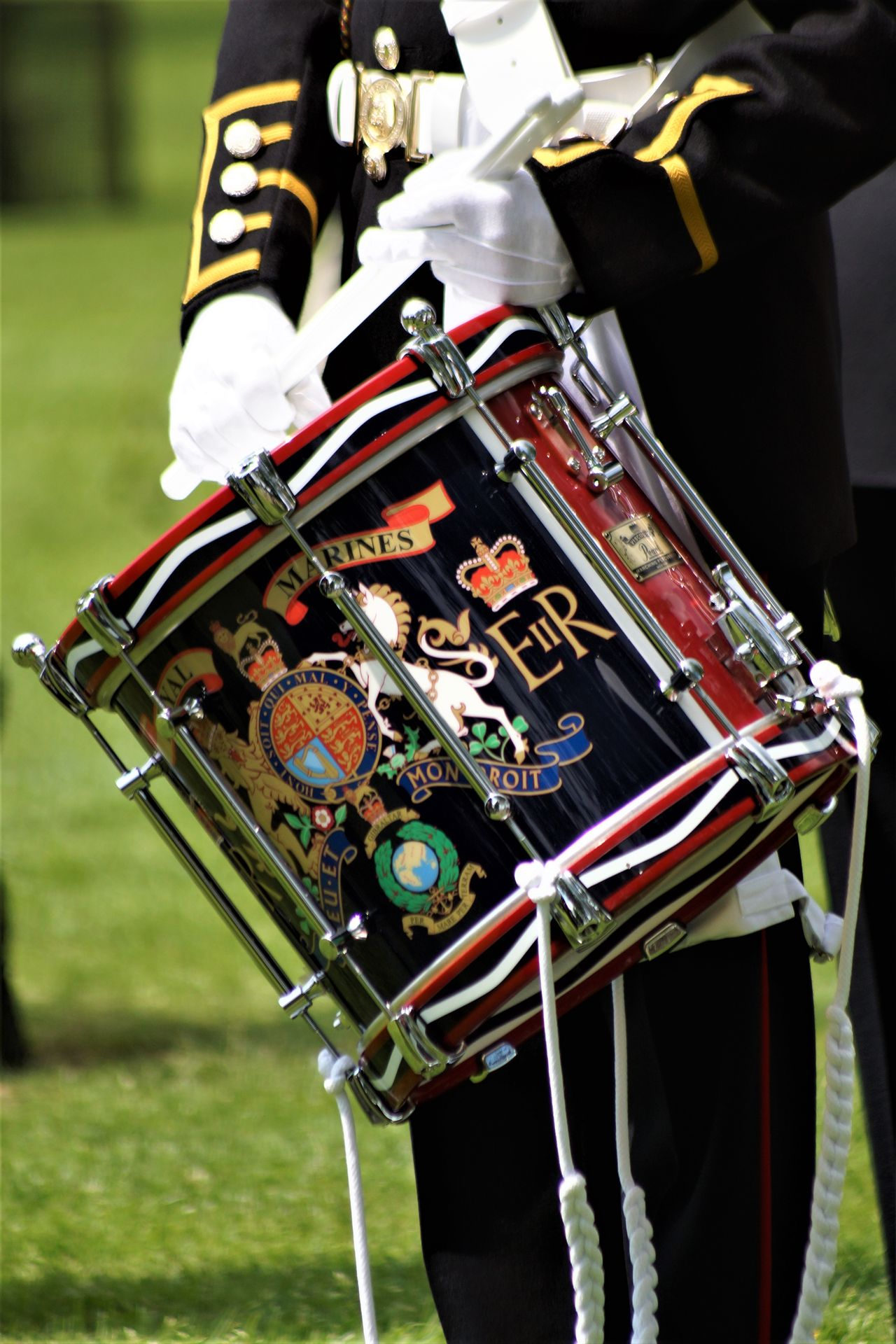Arboretum Army British Army Ceremony Close-up Day Drums Gloves Instruments Marines Corps Military National Memorial Arboretum Outdoors Percussion Instrument Uniform