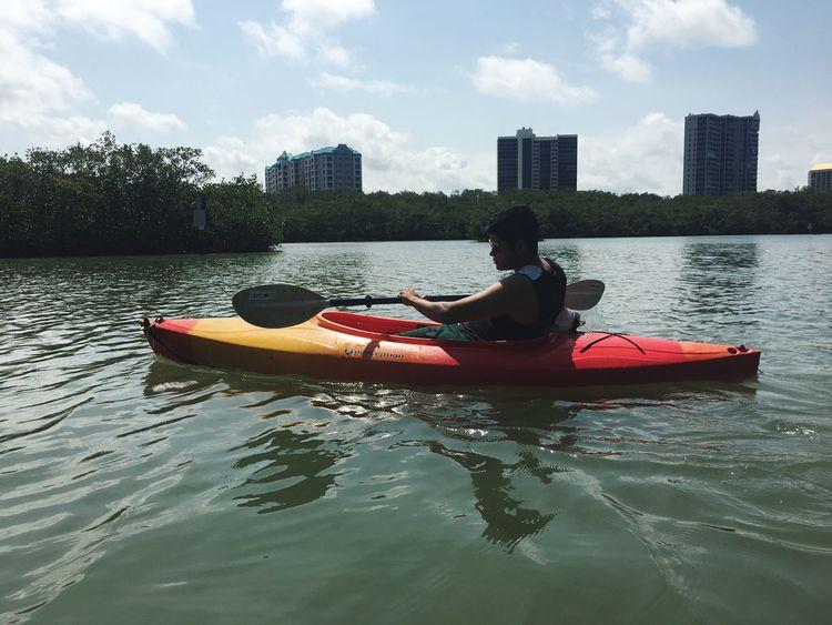 Sky Outdoors Nature Kayak Water Built Structure