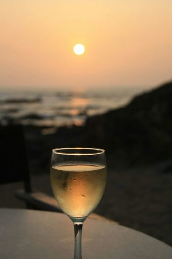 Sunset Vino Verde Green Wine Enjoying Life Porto