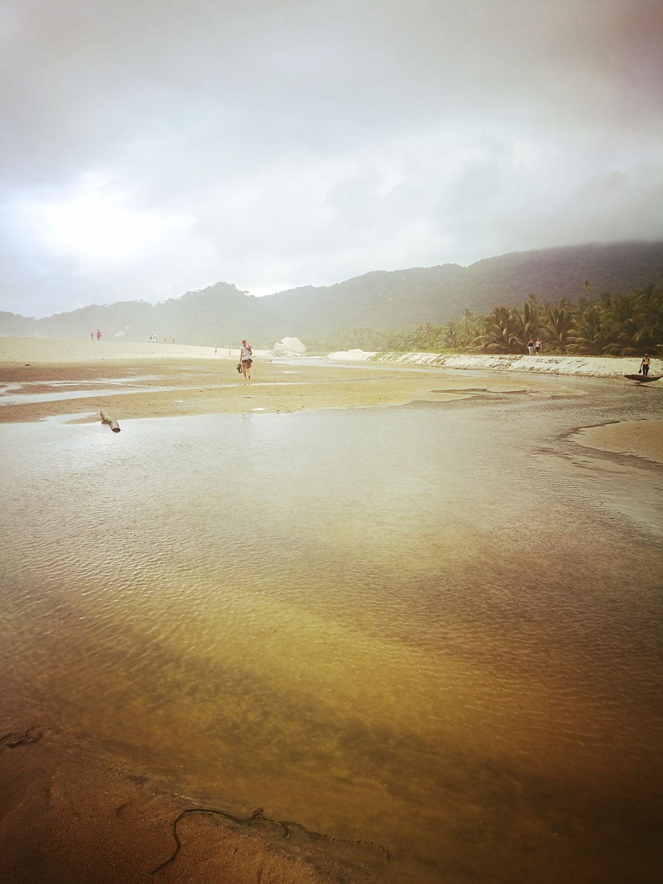 Nature One Person Water Beach People Adult Sky Outdoors Lake Arrecifes Tayrona Natural Park