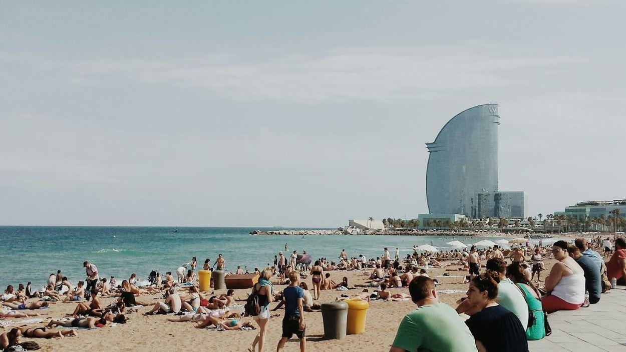 Taking Photos 😚 Barcelona Spain ✈️🇪🇸 Barcelonetabeach Sea View Seascape Photography Travelling Traveltheworld