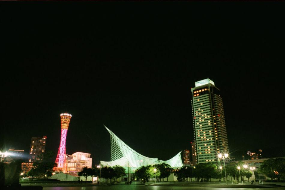 神戸 ポートタワー Kobe Kobe-shi,Japan 夜景 Nightview メリケンパーク 土曜日日帰りで神戸行ってきましたー、夜景撮るの難しいですね…