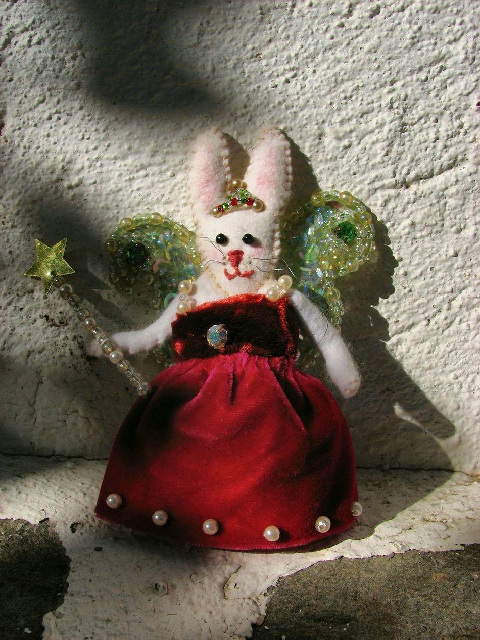 Bunny Fairy - by Heather Fifield. Bunny  Fairy Handmade Christmas Decoration Tree Fairy Decorative Rabbit Velvet Jewels Bunny Bling EyeEm Bunny Of The Day