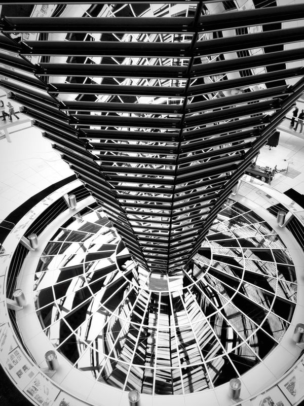 Berlin Photography Capital Cities  Germany Architecture Blackandwhite Eyeemblack&white Reichstagskuppel Reichstag Mirror Glass Dome Glass Dome Architectural Detail Architecture_bw Modern Modern Architecture Mirrorshot Glass Reflection Leading Lines Learn & Shoot: Leading Lines Travel The Architect - 2016 EyeEm Awards Monochrome Photography