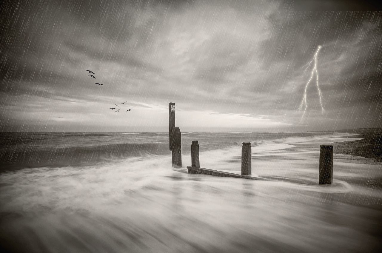 The Storm | Enter the storm head on 🔘 Weather it's rage 🔘 Let its needles wake your dormant soul 🔘 And spit you out awoken and strong Sea Horizon Over Water Finding New Frontiers Storm Storm Clouds Seascape Sea And Sky Lightening Tranquil Scene Waves Long Exposure Beach Naturelovers Reflections Beachphotography Beach Life Scenics Motion Southwold BW Collection Blackandwhite
