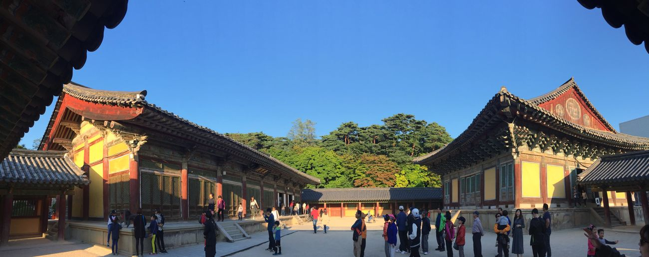 Taking Photos Walking Around Korean Temple Panorama IPhoneography