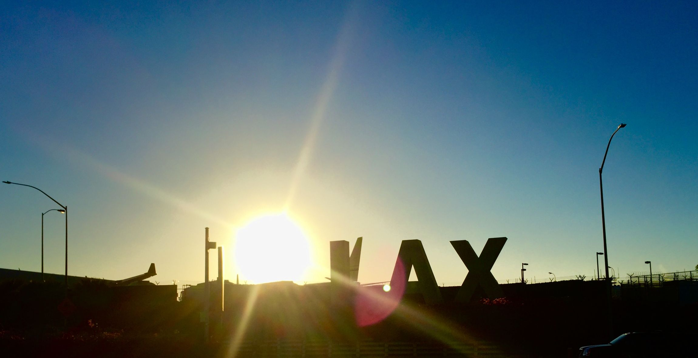 Sunset LAX LAX Sign