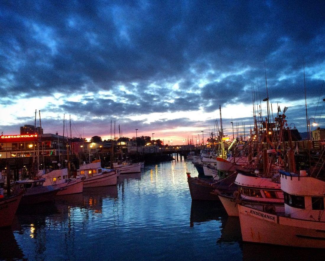 San Francisco Fisherman's Wharf Boats Water Sky Clouds And Sky Cloud Beautiful Beautiful Nature On The Docks