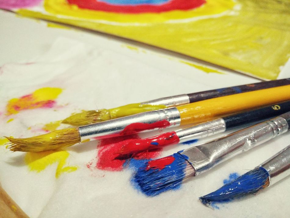 Art, Drawing, Creativity Watercolor Painting Multi Colored Vibrant Color Art And Craft Paint Colours Painting Paint Brushes Painting Art Creative Occupation Painting In Progress
