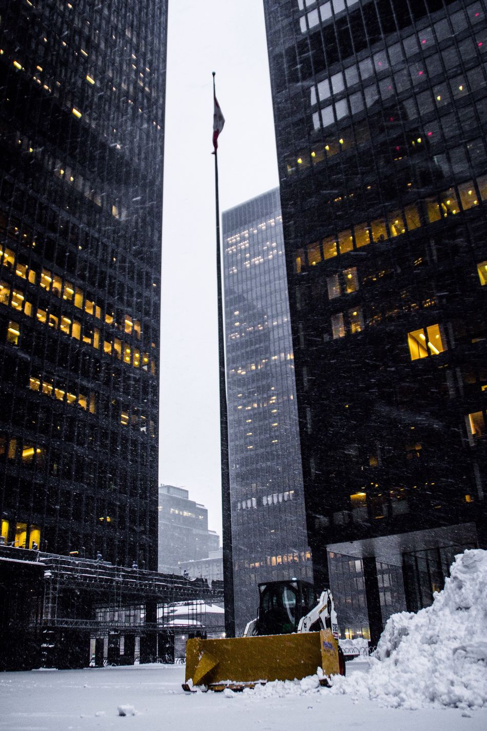 Architecture Built Structure City Building Exterior Snow Winter Outdoors Skyscraper Cold Temperature No People Day
