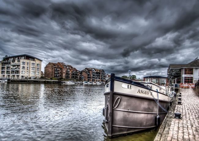 Sky And Clouds Travel Outdoor Photography View Boat Kingston Upon Thames Water Reflections Landscape_photography