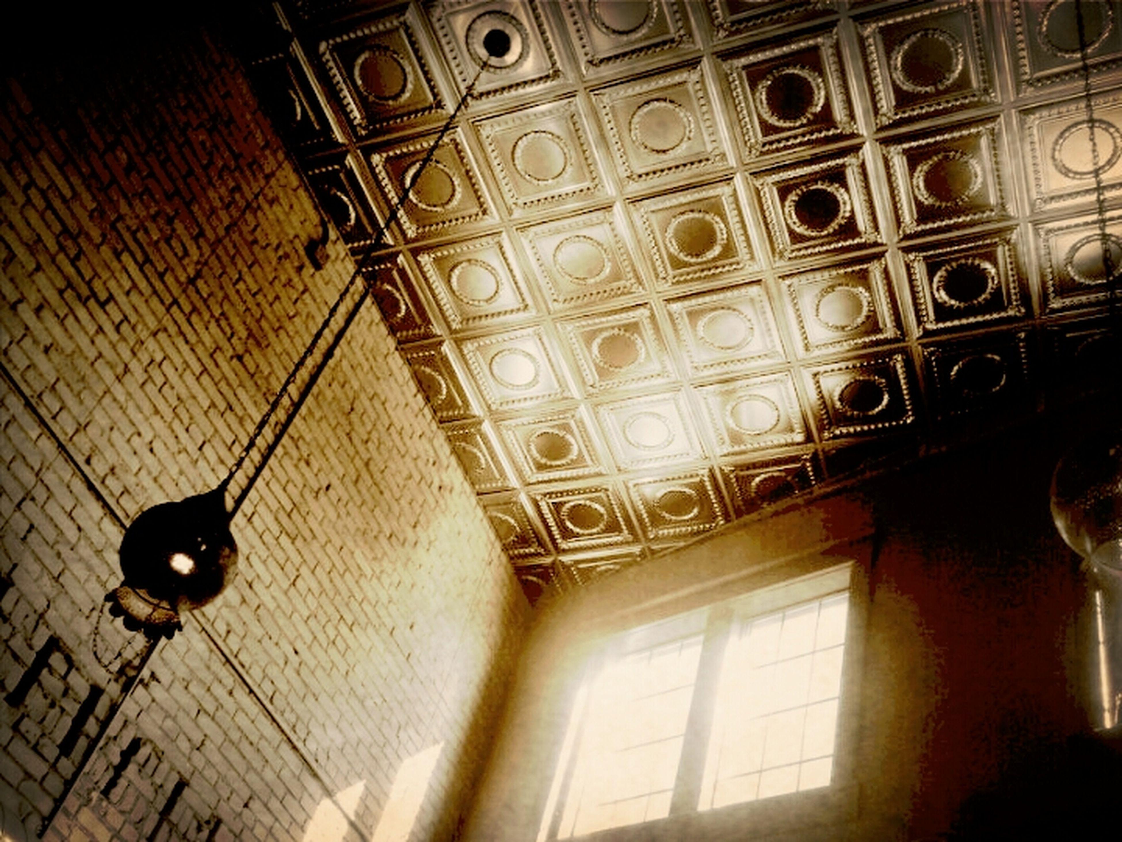 I love tin ceilings.
