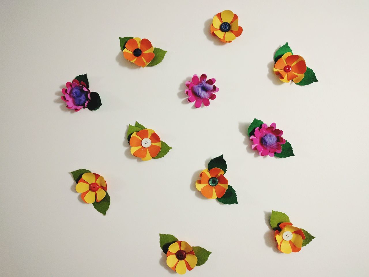 Multi Colored Flower Leisure Activity Crafts Creativity Homemade Variation Indoors  Papercraft Illuminated Hand Crafts Different Styles