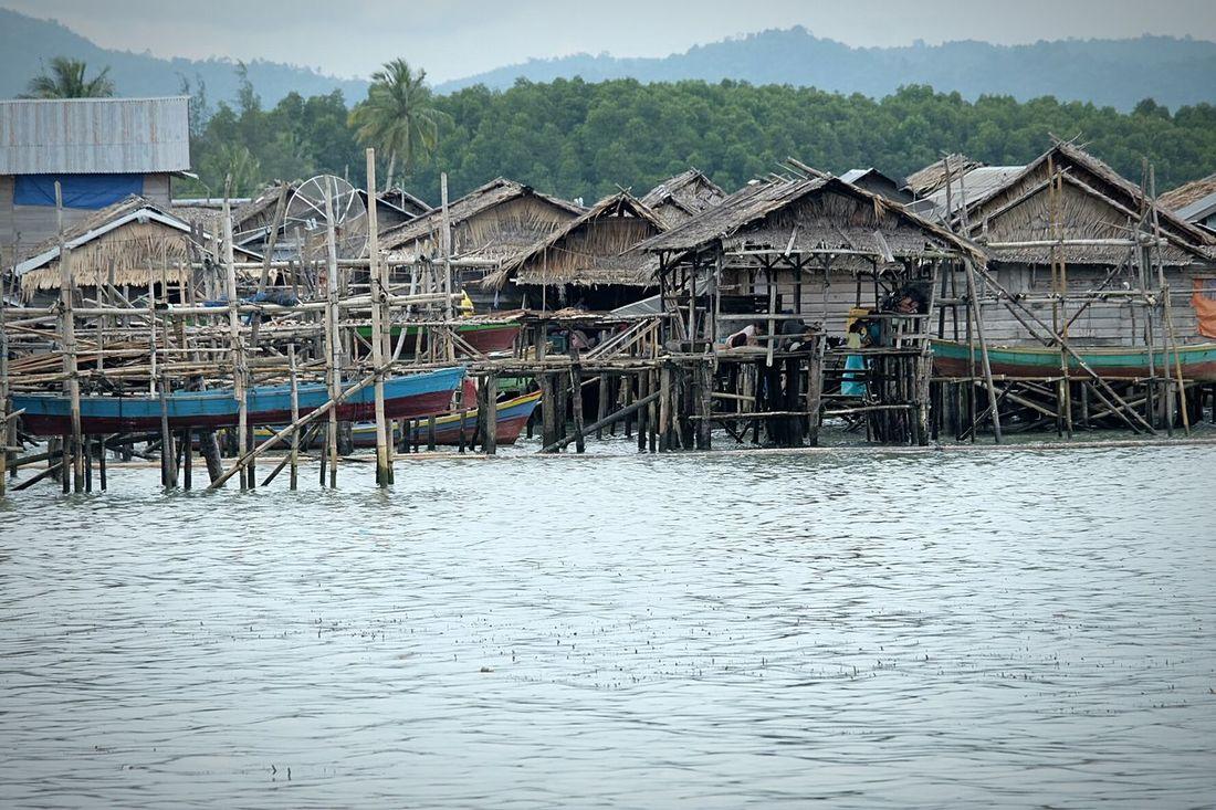 Kampung Nelayan Hajoran Tapanuli Tengah... Water Outdoors No People Day Village View Village Fisherman Village Sibolga North Sumatra - Indonesia Traditional Architecture Traditional