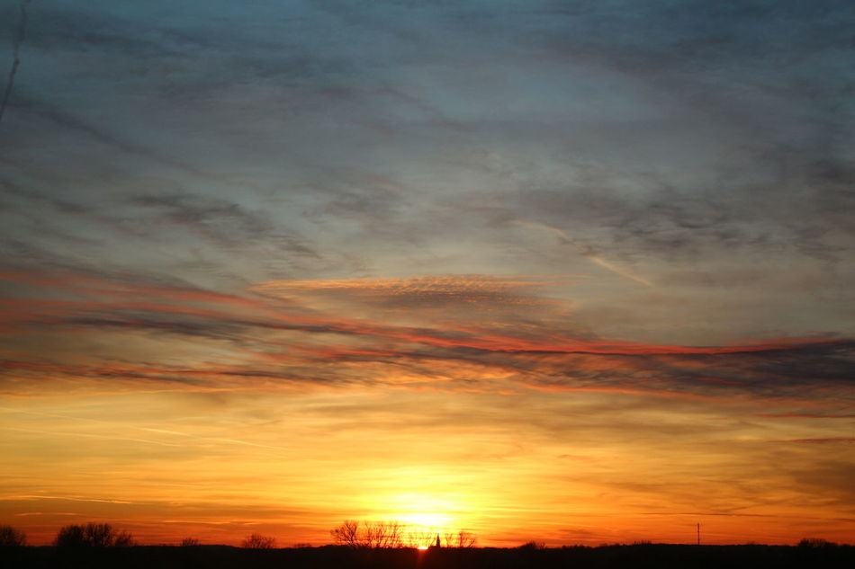 Beauty In Nature Brandenburg Cloud - Sky Dramatic Sky Himmel Majestic Nature No People Orange Color Outdoors Silhouette Sky Sonnenuntergang Sunset Uckermark Wolken