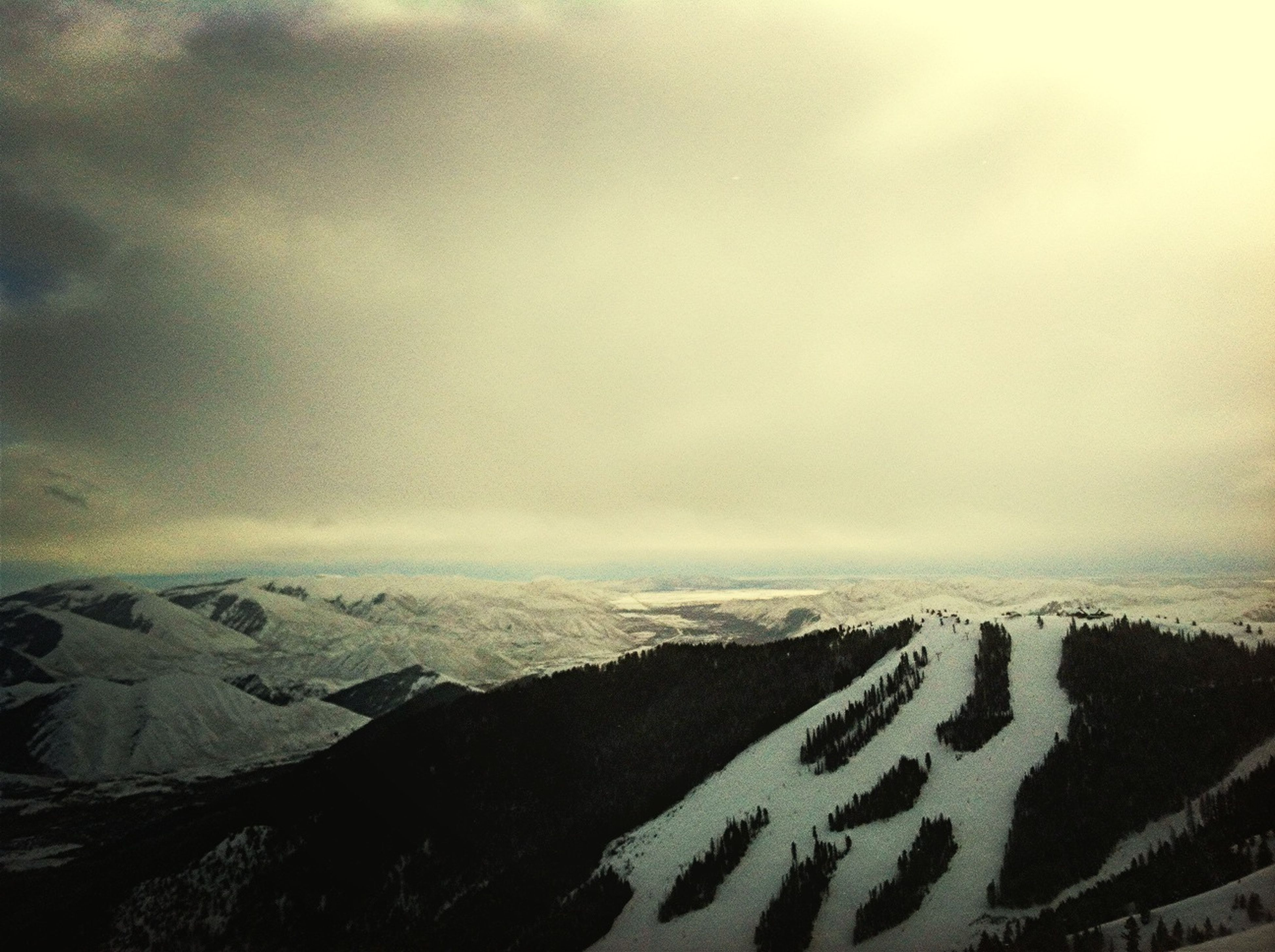 Snowboarding On Baldy Looking South