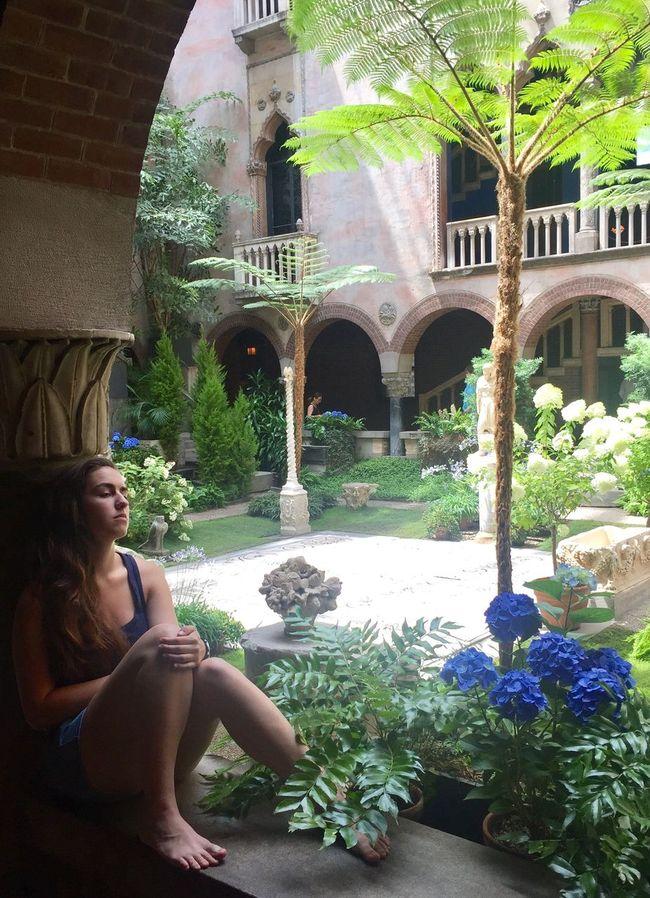 Youngwoman Thoughtful Observing Isabella Stuart Gardner Museum Interior Garden Garden Flowers Garden Photography Eyemphotography Eyem Best Shots Eyemnaturelover Architecture Architecture_collection Architecturephotography